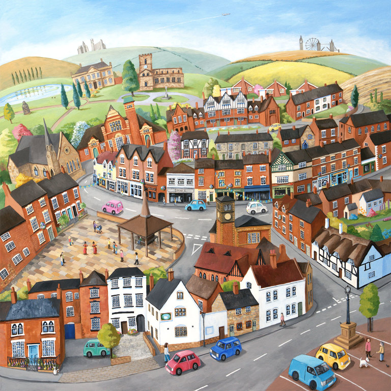 Illustration of Melbourne in Derbyshire