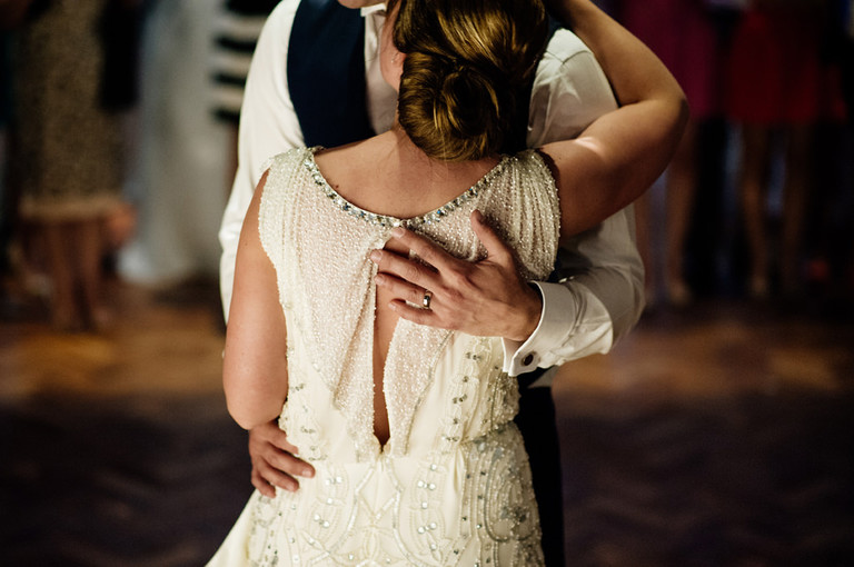 intimate first dance moment