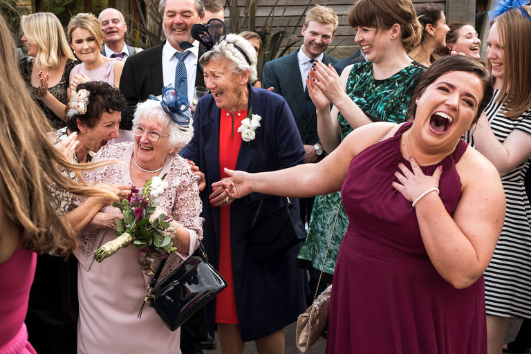 Grandma Catches the Bouquet